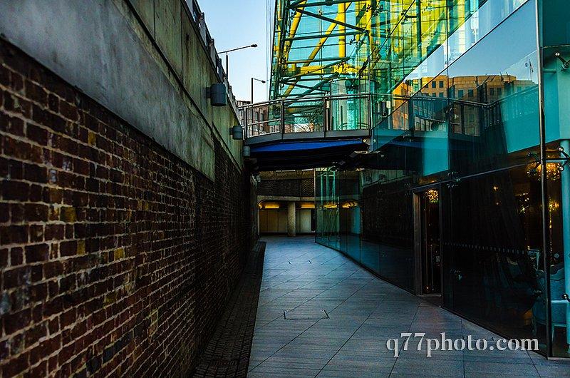 interesting architecture in the underground passage, a combinati